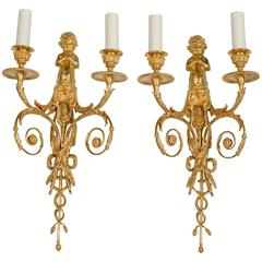 Pair of Wall Sconces in the Louis XVI Style