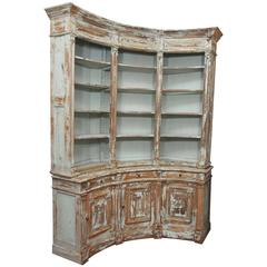 19th Century Directoire Style Curved Bibliotheque