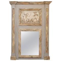 20th Century French Painted Trumeau