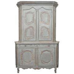 19th Century French Painted Buffet a Deux Corps