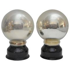 Antique Mercury Glass Butler's Balls