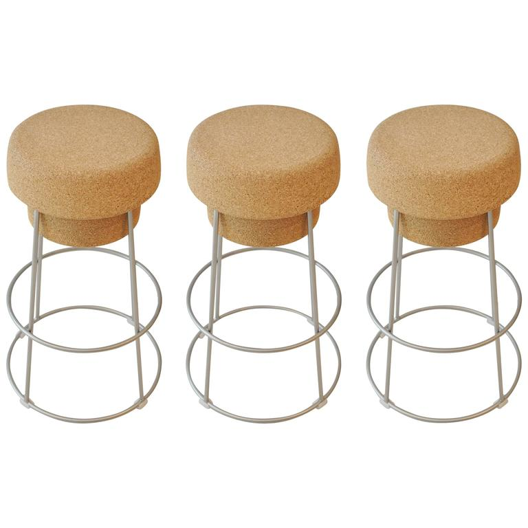 Champagne Cork Counter Stools At 1stdibs
