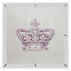Mitchell Black Custom Crown Art in Acrylic Frame