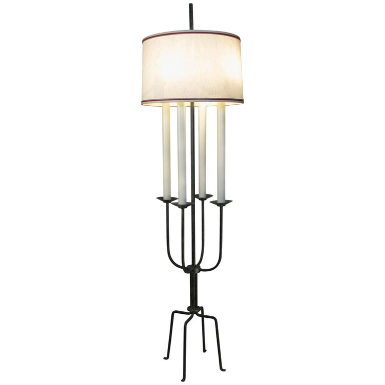 1940's Modern Floor Lamp by Tommi Parzinger For Sale