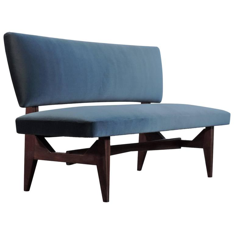 Italian settee, 1950s, offered by SG Gallery Milano