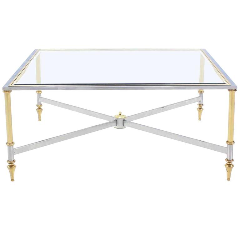Square X Base Mid-Century Modern Coffee Table