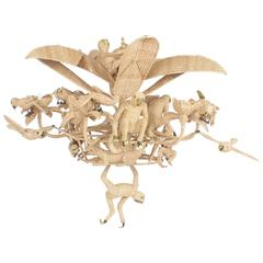 Folky Mario Lopez Torres Six-Light Jungle Chandelier