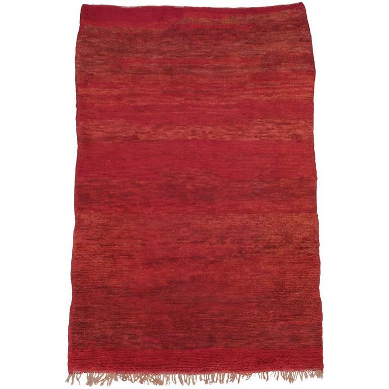 Red Beni Mguild Moroccan Berber Rug