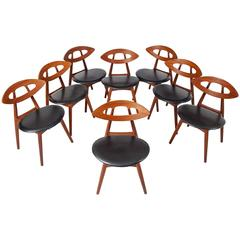 Ejvind A. Johansson Set of 8 Eye Chairs