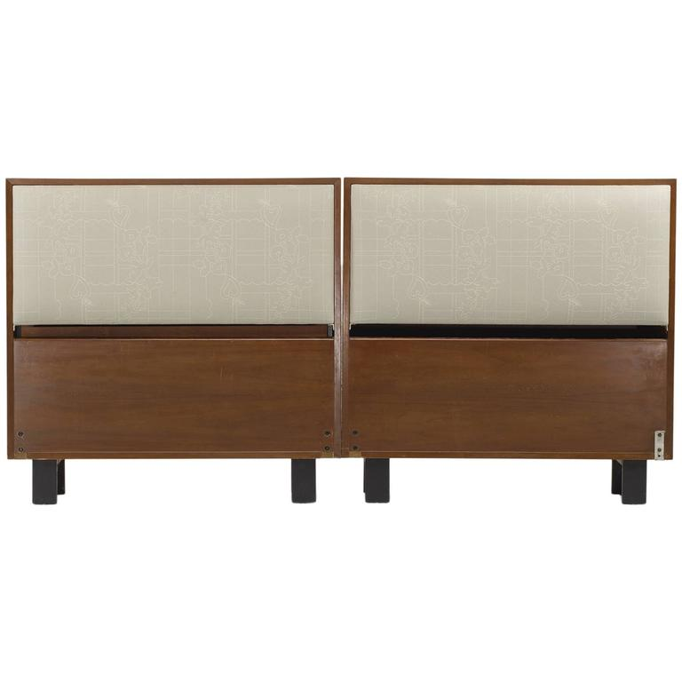 Pair Of Twin Sized Headboards By George Nelson And Assc