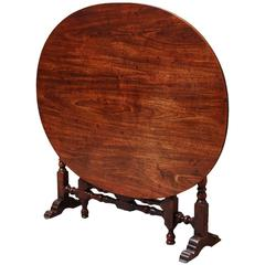 Rare Late 17th Century Yew Wood Coaching Table with Later Mahogany Top