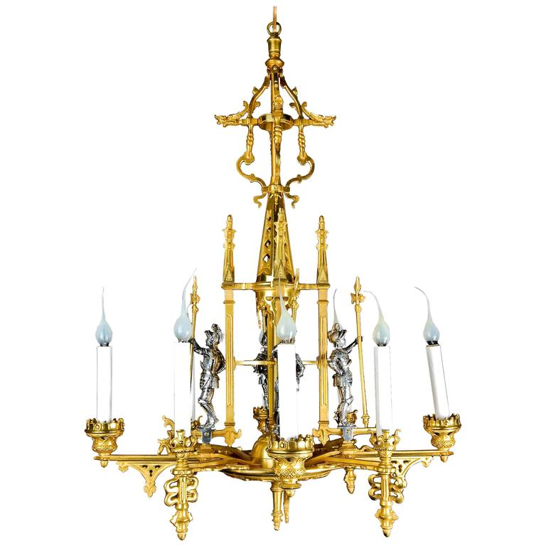 Rare Antique French Louis Xvi Style Gilt And Silvered