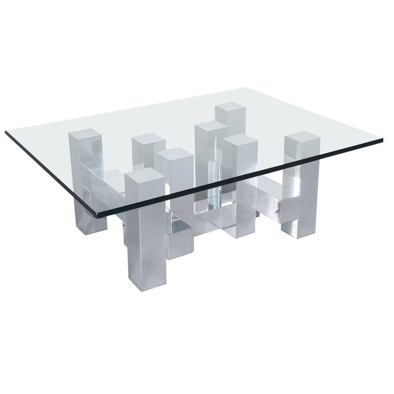 """Architectural """"Cityscape"""" Coffee Table by Paul Mayen"""