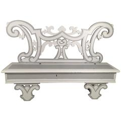 Italian Baroque Style Painted Bench