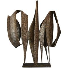 Welded Bronze Sculpture Titled 'Reunion' by Artist Jean Woodham, 1963
