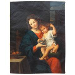 Mother and Child, Classical 19th Century Painting
