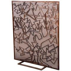 Fire Screen by Michel Zadounaisky, France, 1940s