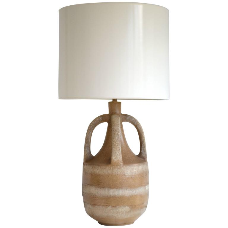 Midcentury Ceramic Jar Form Table Lamp
