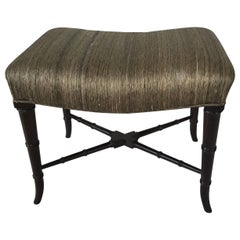 Faux Bamboo Midcentury Bench