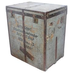 Antique Travel Trunk by Moritz Madler Leipzig