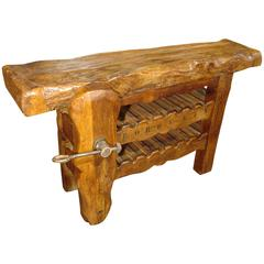 'Bordeaux' Workbench Wine Carrier from France