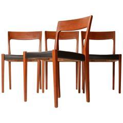 Set of Four Svegards Markaryd Made Dining Chairs