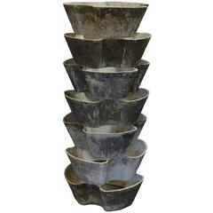 Rare Mid Century Modern Stackable Planters by Willy Guhl for Eternit