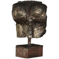 Brutalist Style Bronze Sculpture of a Female Torso