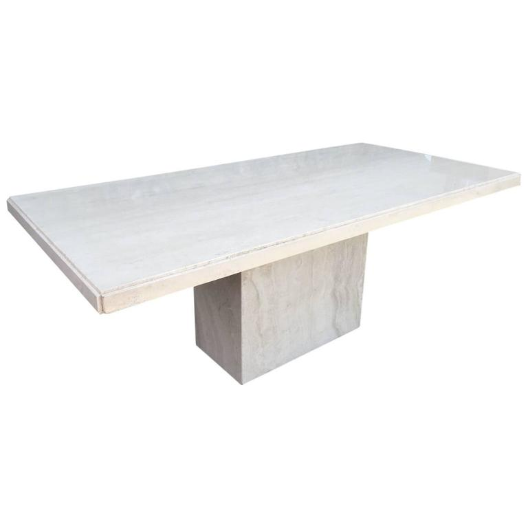 Large Italian Travertine Dining Table