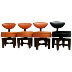 Set of Four Mid-Century Modern Lounge Chairs
