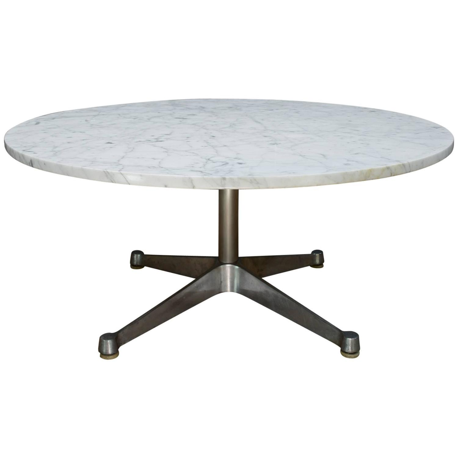 Eames Herman Miller Carrara Marble Cocktail Table at 1stdibs