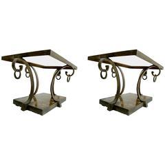 Pair of Arturo Pani Brass Side Tables