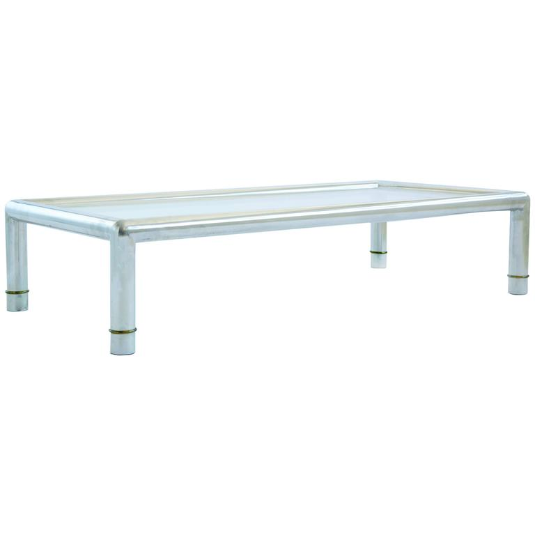 Large Rectangular Mastercraft Cocktail Table For Sale