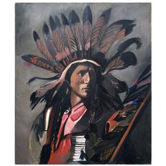 'Dakota Sioux' Painting by Barbara Sandler