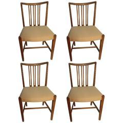 Four Hans Wegner Dining Chairs