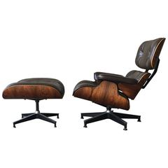 Rosewood and Brown Herman Miller Eames 670/671