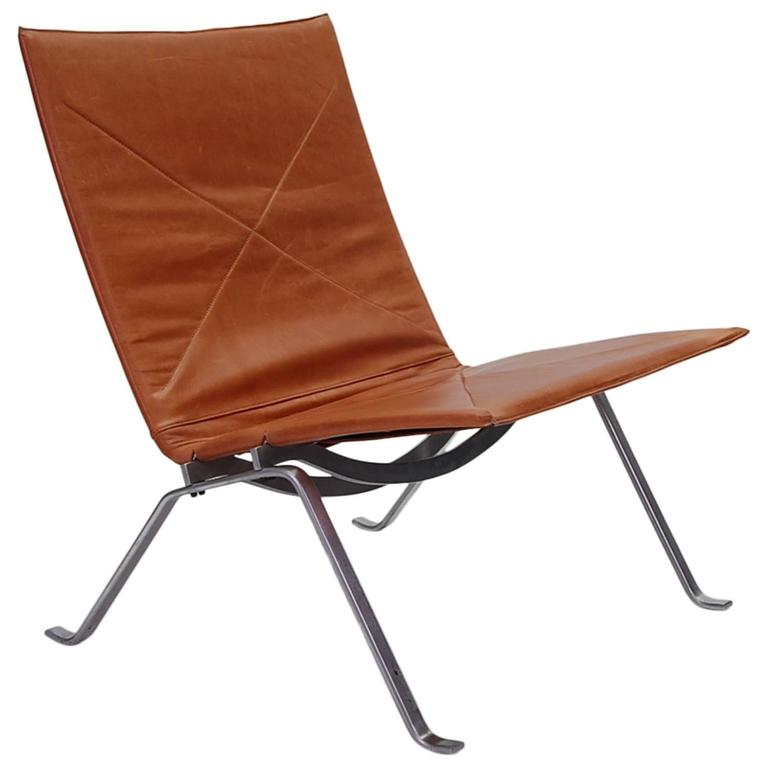 Early poul kjaerholm pk22 lounge chair for sale at 1stdibs for Aalto chaise lounge