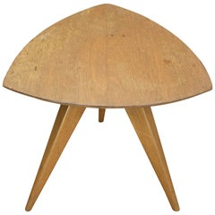 1950s Mid-Century Shield Tripod Table Paul Laszlo for Glenn of California