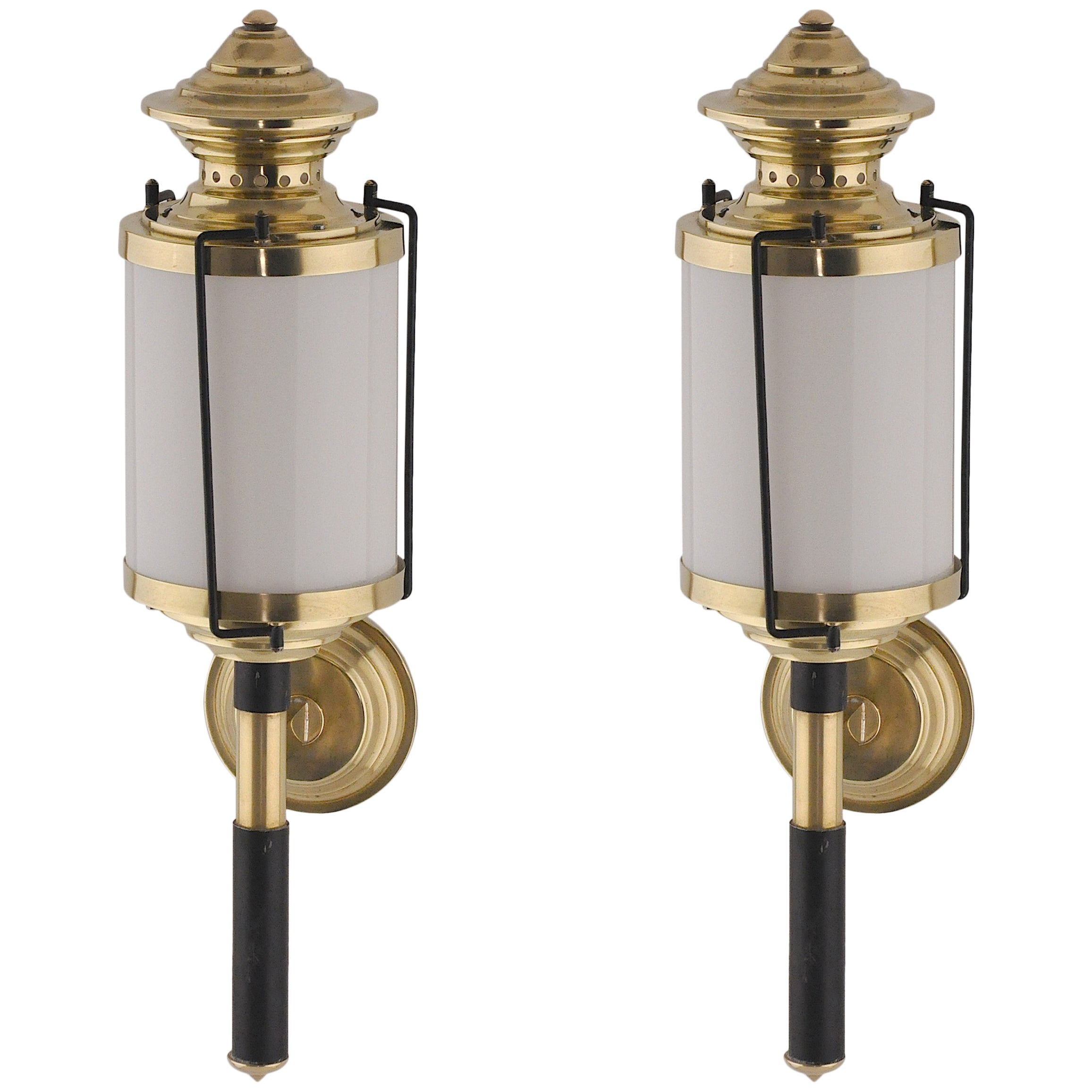 Pair of 1950  Italian Lantern-Sconces