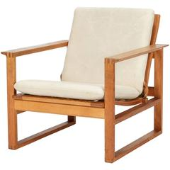 Danish Borge Mogensen Lounge Chair 2256 Oak, 1956