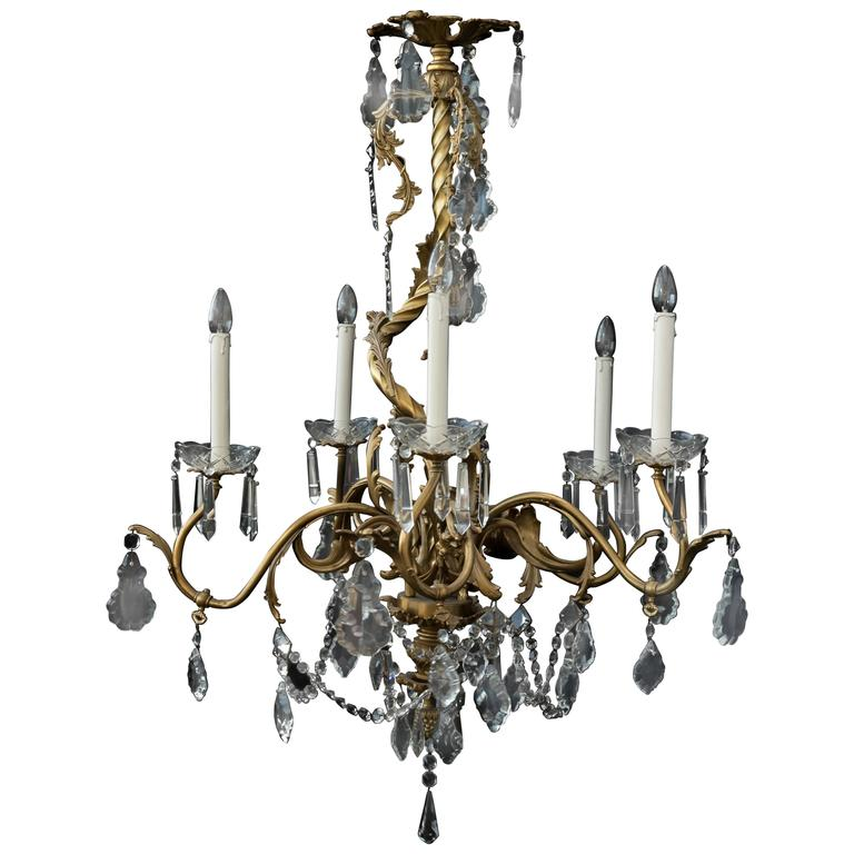 Classic French Chandelier in Rococo Style of Louis XV