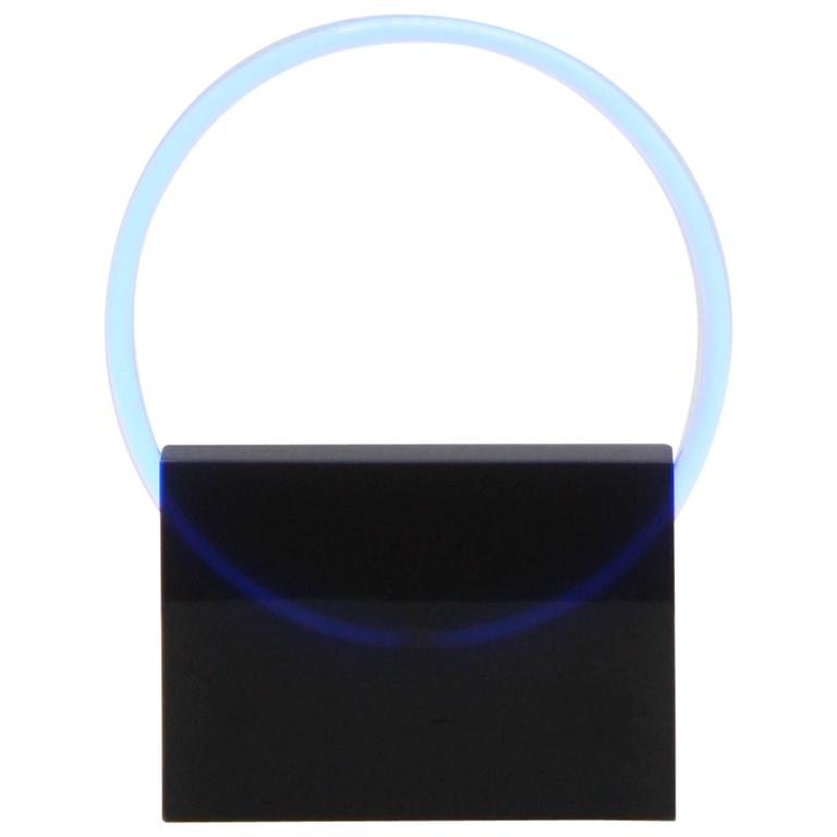 Voie Light Small Black/Blue, Resin and Neon Table Lamp by Sabine Marcelis