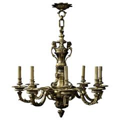 Late 19th Century Eight-Light Louis XV Style Chandelier
