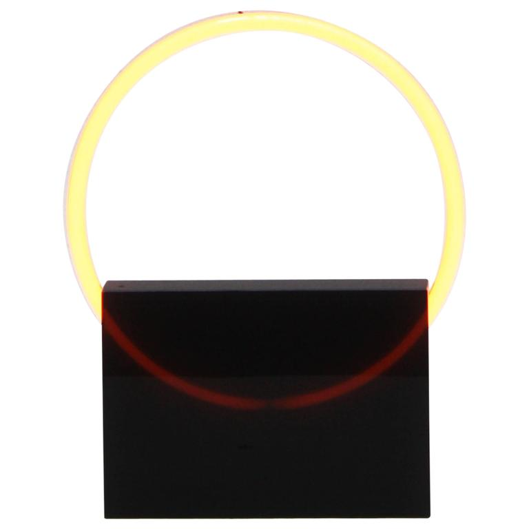 Voie Light Small Black/Lemon, Resin and Neon Table Lamp by Sabine Marcelis