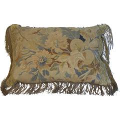 19th Century Aubusson Tapestry Pillow by Mary Jane McCarty Design