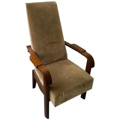 Tall Back Armchair by Charles Dudouyt