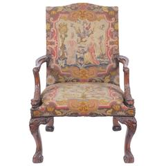Antique 19th Century Gainsborough Style Armchair