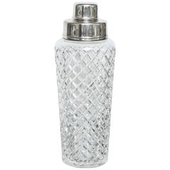 Tiffany and Co Sterling Silver and Crystal Cocktail Shaker