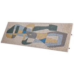 Large Rectangular Coffee Table with Abstract Mosaic Tiles, Germany, 1950s
