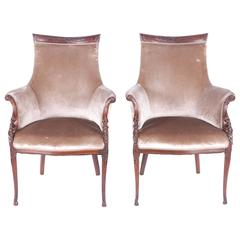 Pair of Elegant Hollywood Regency Grosfeld Armchairs